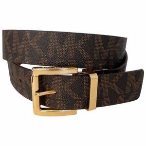 Michael Kors Brown & Gold Belt